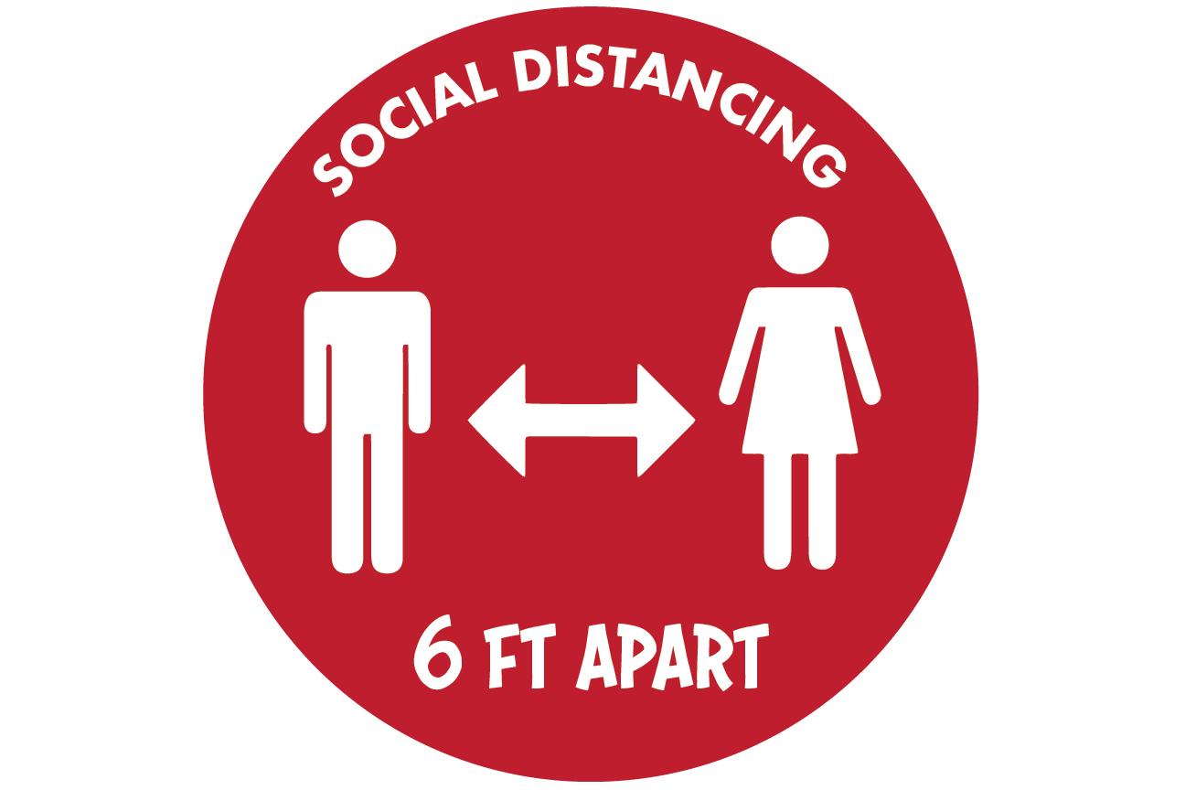 Social Distancing Decals 13