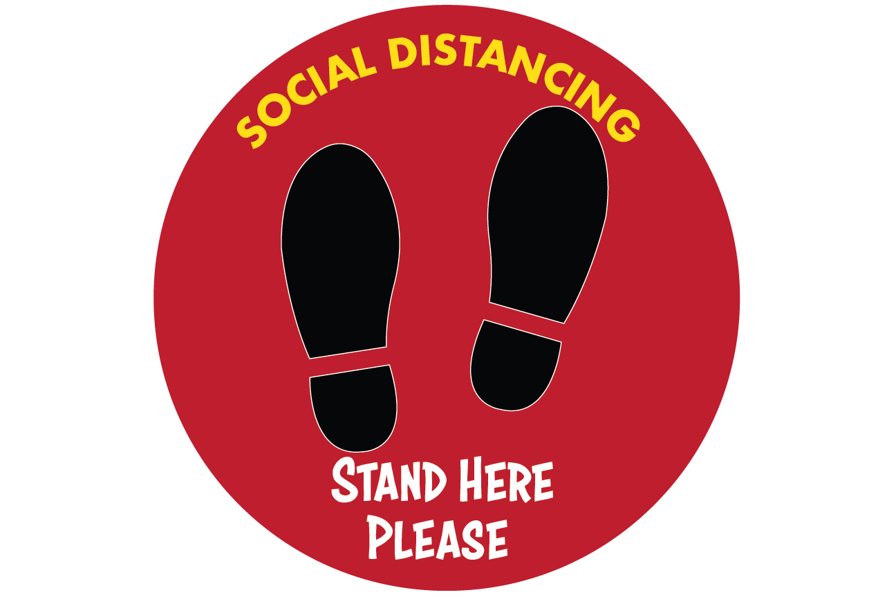 Social Distancing Decals 02