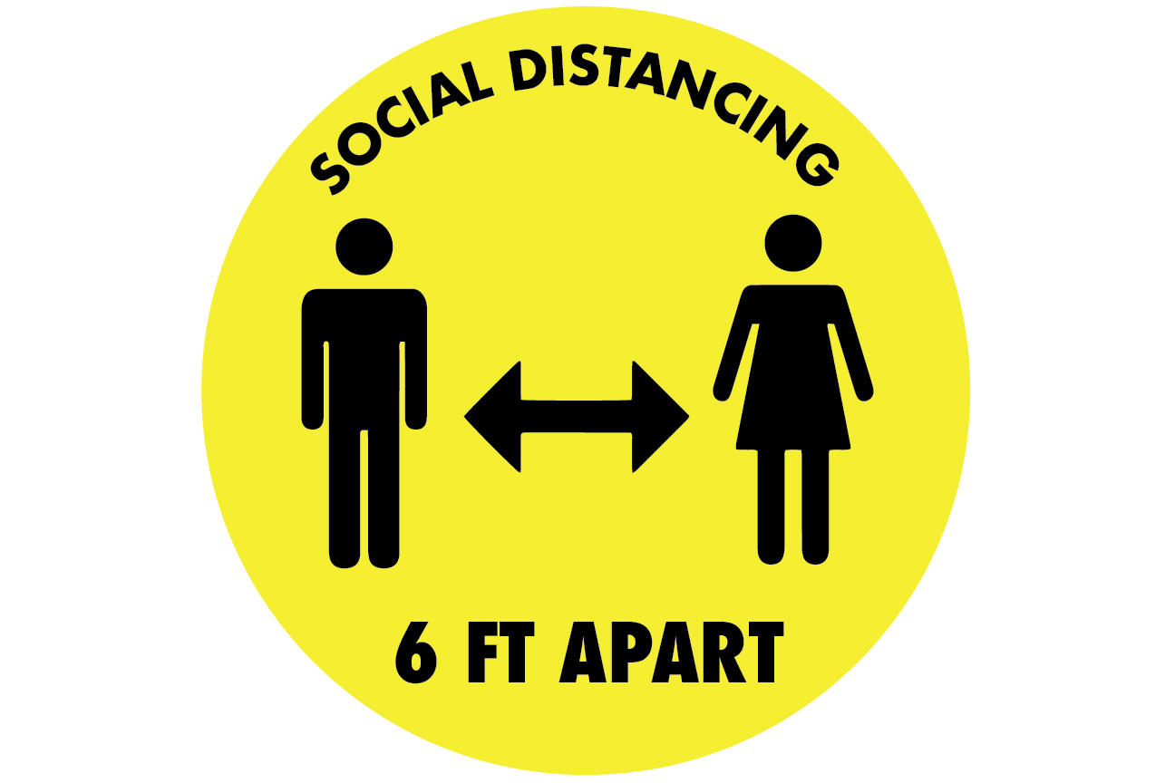 Social Distancing Decals 14
