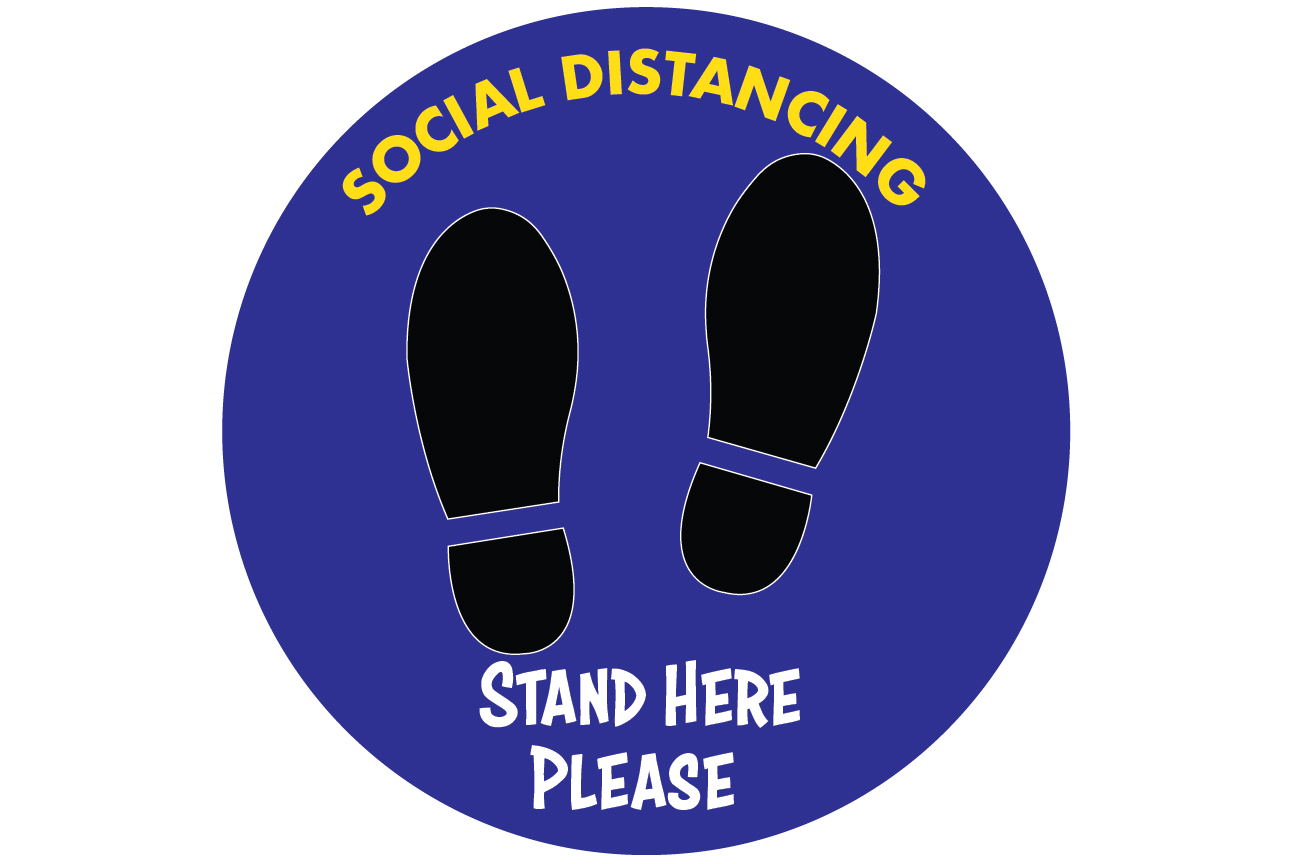 Social Distancing Decals 01