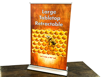 Large Tabletop Retractable
